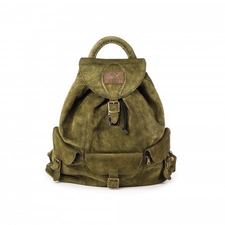 Courteney Impala Haversack - Olive Suede