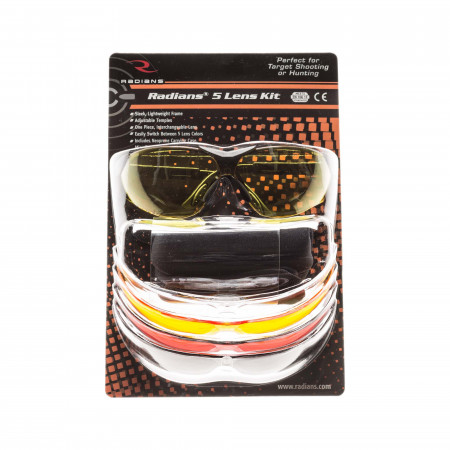 Radians Shooting Glasses - 5 Lense Kit