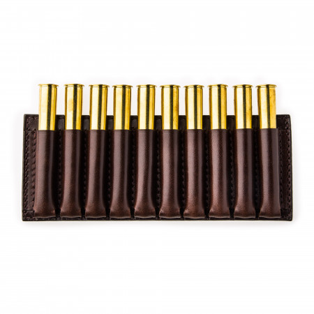 10 Rd Open Ammunition Belt Wallet Large - Dark Tan