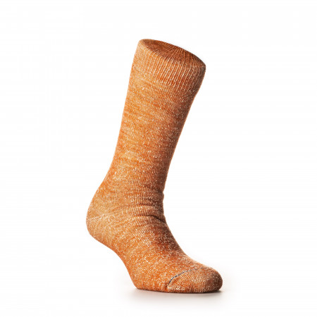 Double Face Merino Wool Socks in Orange