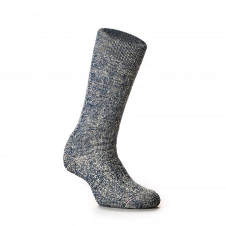 Double Face Merino Wool Socks in Deep Ocean