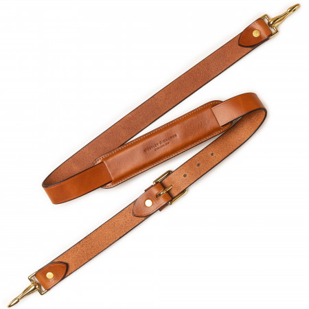 Deluxe Shoulder Strap in Mid Tan