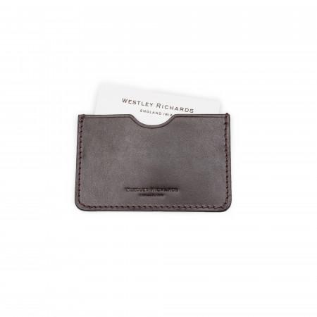 Business Card Holder in Dark Tan