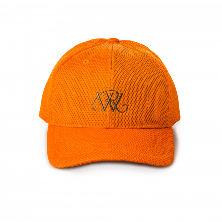 Mesh Logo Cap in Orange