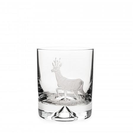 Hand Engraved Crystal Glass - Roebuck