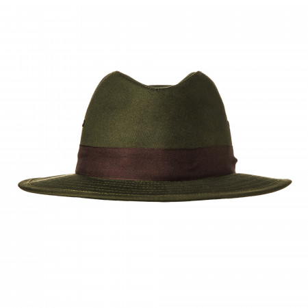 Hunting Hat with Brown Herringbone Band