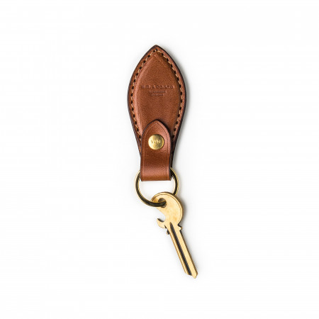 Mid Tan Leather Key Fob