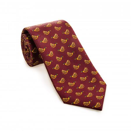 Silk Mallard Tie in Chianti