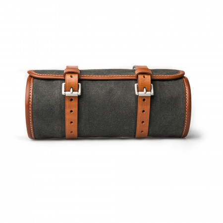 Tool Roll in Waxed Cotton Forest Green