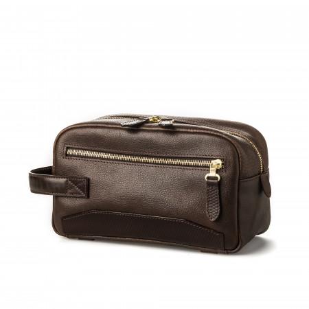 Bournbrook Wash Bag in Dark Tan