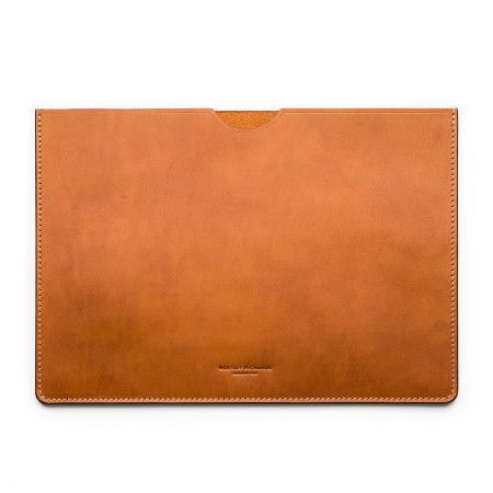 Leather Document Holder in Mid Tan