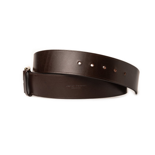 "2"" Leather Belt in Dark Tan"