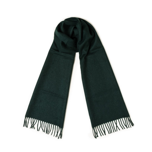 Pure Cashmere Scarf in Bottle Green