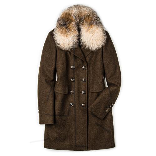 Ladies Viktoria Coat with Fur