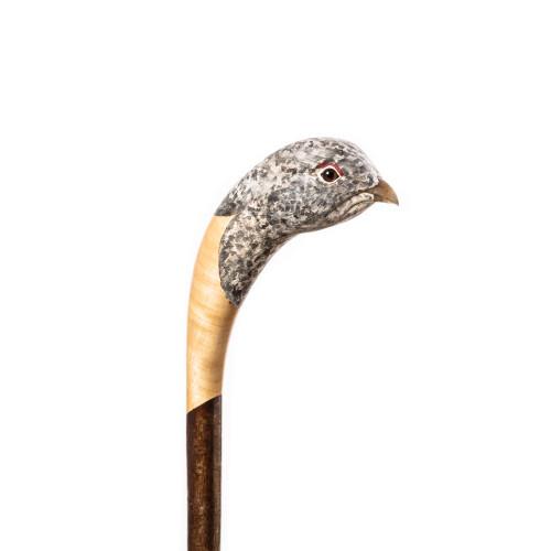 Hand Carved Ptarmigan Walking Stick