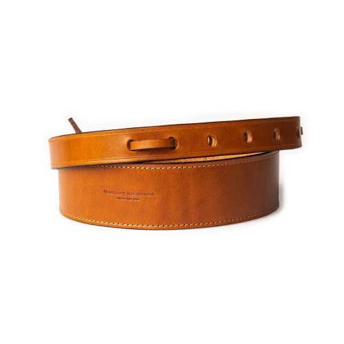 """2"""" Leather Rifle Sling in Mid Tan"""