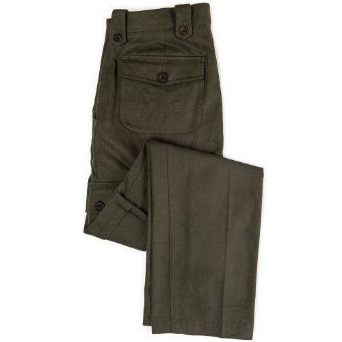 Safari Trousers in Brushed Bush Green