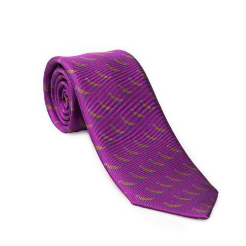 Westley Richards Silk Grouse tie in Royal Violet