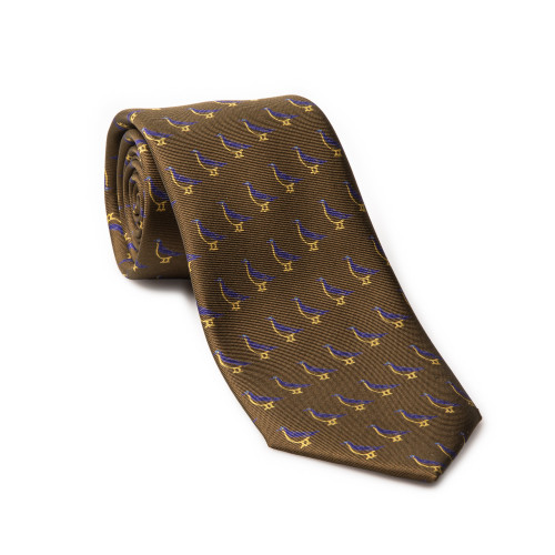 Westley Richards Silk Grouse tie in Soft Moss