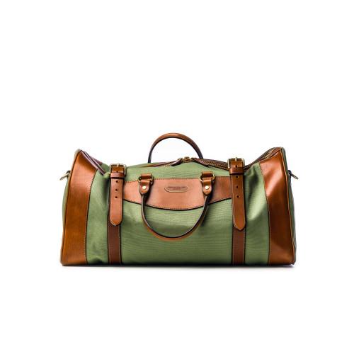Medium Sutherland Bag in Safari Green and Mid Tan