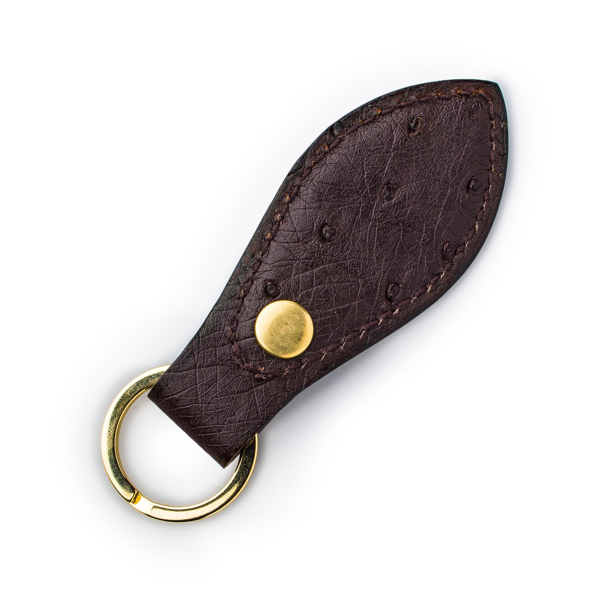 Leather Key Fob Ostrich