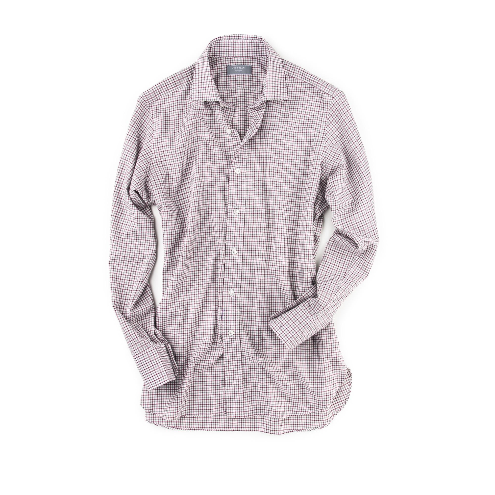 Classic Shirt Red Grey Check W R Co Ltd