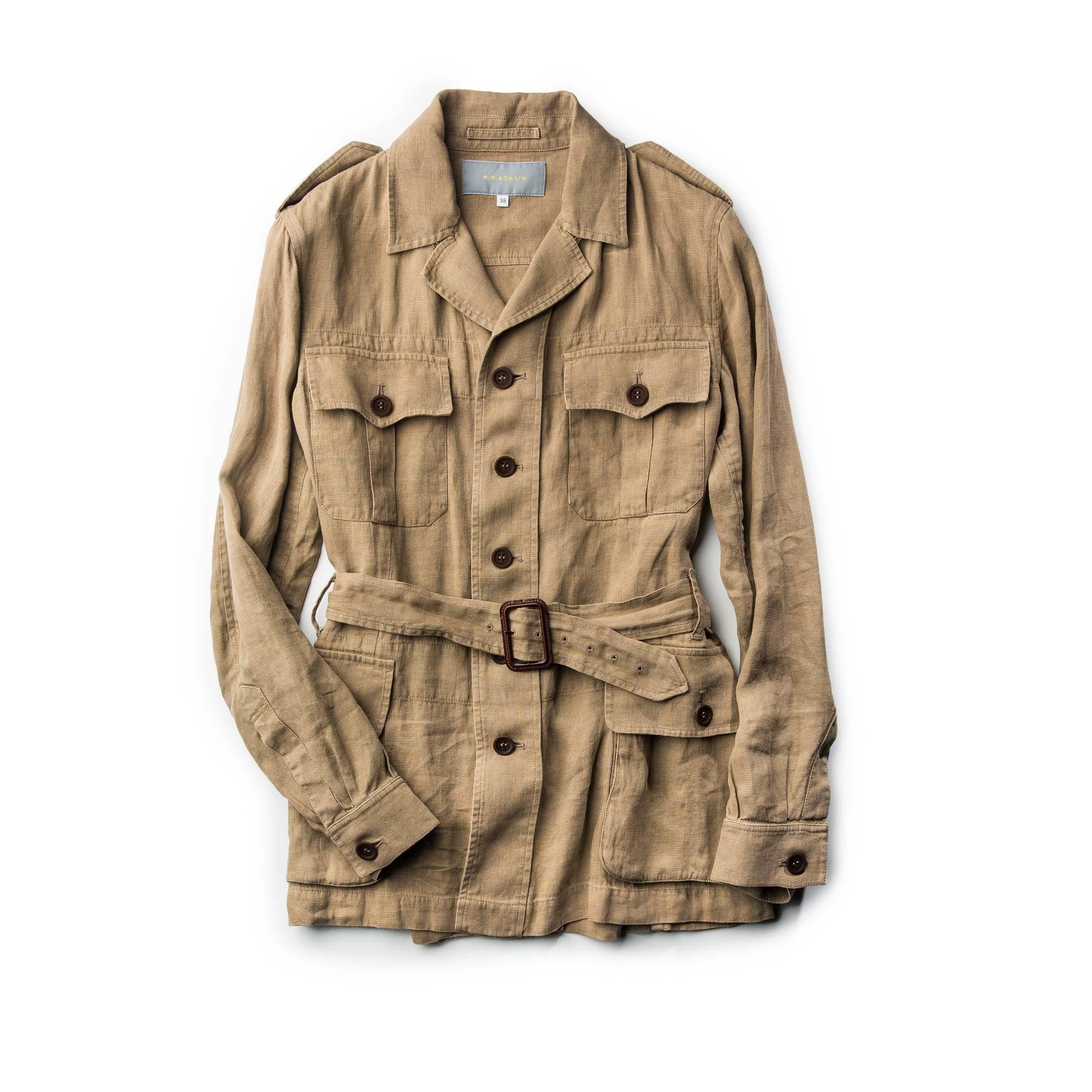 Where Is The Co U R: W. R. & Co. Safari Jacket - Beige