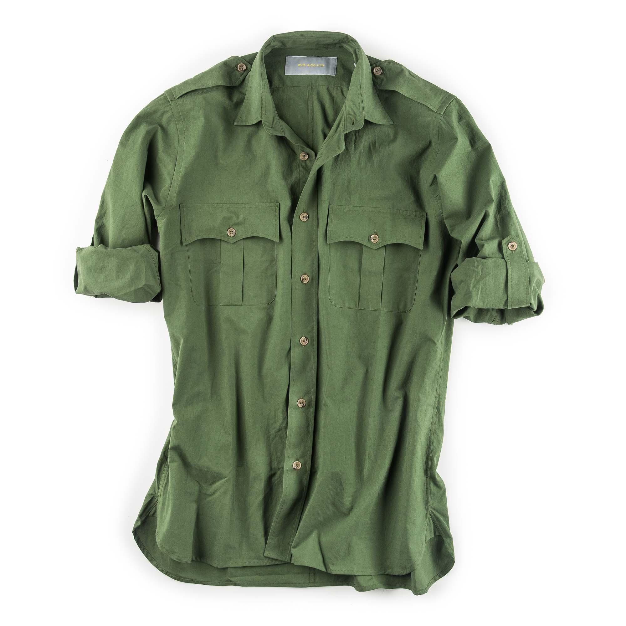 Where Is The Co U R: W. R. & Co. Safari Shirt - Green