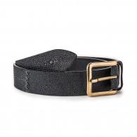 Post & Co. Men's Stingray Belt in Black