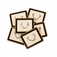 Westley Richards Antler Print Coasters - Stag