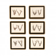 W.R. & Co. Antler Print Coasters - Roe Buck
