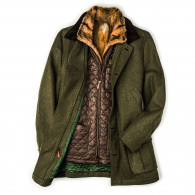 Habsburg Men's Antonius Fur Lined Coat with Removable Gilet
