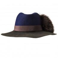 Inverni Ladies Florence Hat - Navy/Brown