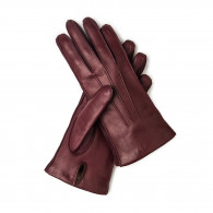 Westley Richards Ladies Leather Gloves with Cashmere Lining- Bordeau