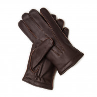 Westley Richards Men's Cashmere Lined Deer Skin Leather Gloves