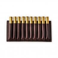 Westley Richards 10 Rd Open Ammunition Belt Wallet Medium - Dark Tan