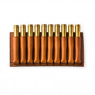 W. R. & Co. 10 Rd Open Ammunition Belt Wallet Medium - Mid Tan
