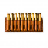 Westley Richards 10 Rd Open Ammunition Belt Wallet Small- Mid Tan