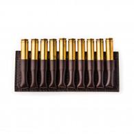 W. R. & Co. 10 Rd Open Ammunition Belt Wallet Small - Dark Tan