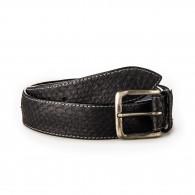 Post & Co. Men's Python Leather Belt - Black