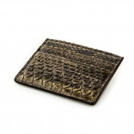 Post & Co. Python Card Holder Wallet in Forest