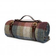 Westley Richards Wool Travel Blanket in Sky Berry