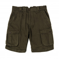 W. R. & Co. Safari Shorts in Brushed Green