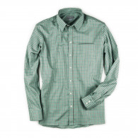 W. R. & Co. Men's Deluxe Tattersall Shirt- Green with Red & Green Check