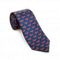 Westley Richards Silk Mallard Tie in Indigo