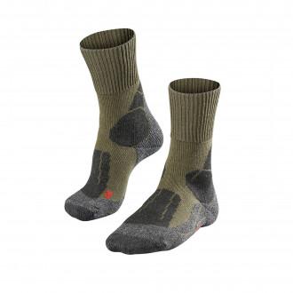 Falke TK1 Mens Socks in Olive