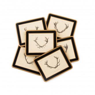 Westley Richards Antler Print Coasters - Stag