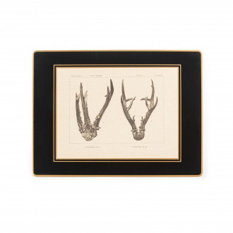 Westley Richards Antler Print Continental Place Mat - Roe Buck
