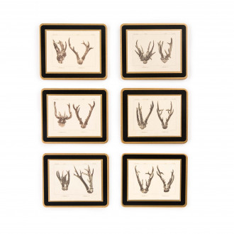 Westley Richards Antler Print Coasters - Roe Buck