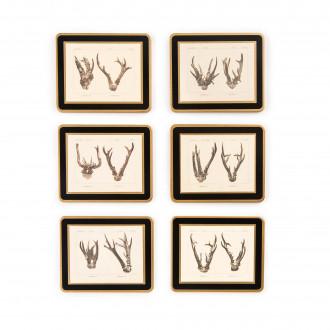 Westley Richards Antler Print Coasters - Roe Buck